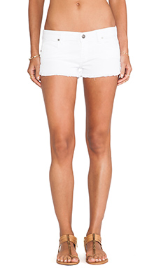 Frankie B. Jeans Jeanie Run Short in White