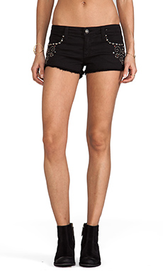 Frankie B. Jeans Nevada Stud Short in Black