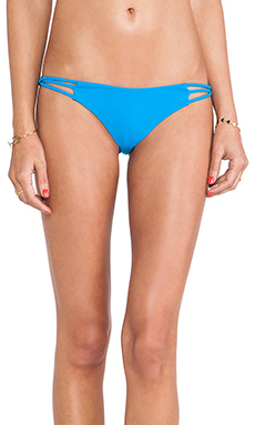 Frankie's Bikinis Kaia Seamless Twisted Braided Bottom in Neon Blue