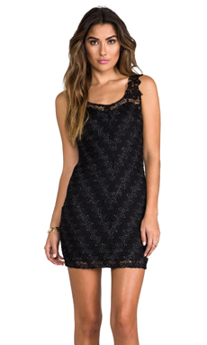 Free People Again Bodycon Dress in Black