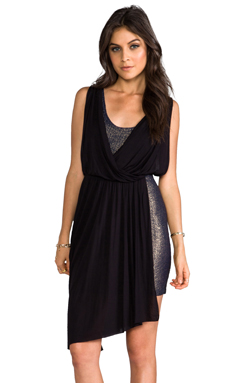 Free People Elanore Mini Dress in Black Combo