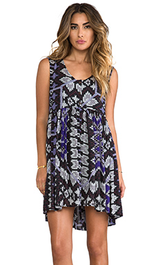 Free People Take Me To Thailand Dress in Black Combo
