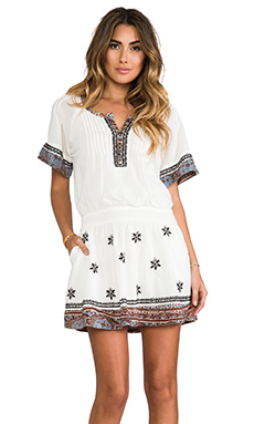 Free People Meet Me In Marfa Dress in Ivory Combo