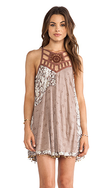 Free People Eyelet Meadow Tunic in Taupe Combo