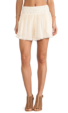 Free People Crochet Mid Rise Short in Tea