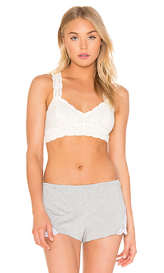 Free People Racerback Crop Bra in Ivory