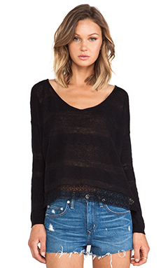 Free People Pebble Dash Sweater in Dark Charcoal
