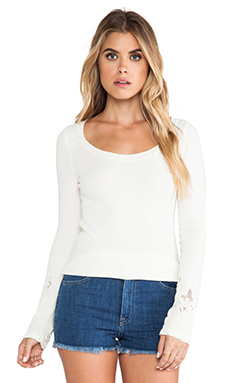Free People Newbie Thermal in Cream