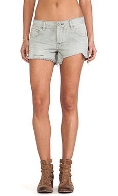 Free People Sharkbite Shorts in Silver Lining