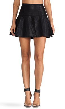 Free People Trumpet Skirt in Black
