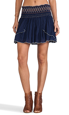 Free People Lip Smacking Good Skirt in True Navy