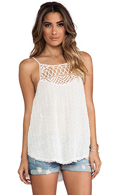 Free People I Got My Eyelet On You Top in Alabaster