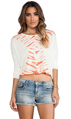 Free People Sundown Washed Top in Ivory Combo