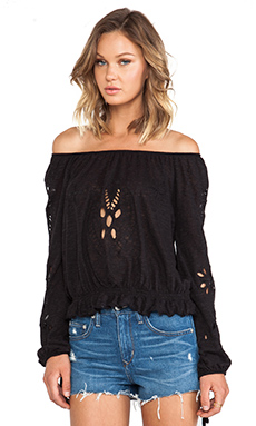 Free People FPX Jewel Top in Black