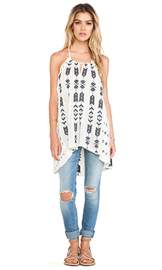 Free People Peace and Arrow Tunic in Oatmeal Combo