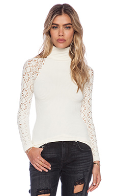 Free People Mock Neck Cami in Ivory