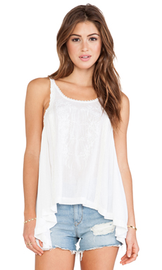 Free People Wonderland Apron Top in White