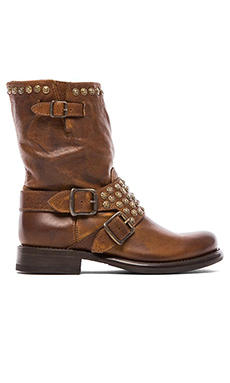 Frye Jenna Studded Short Boot in Cognac