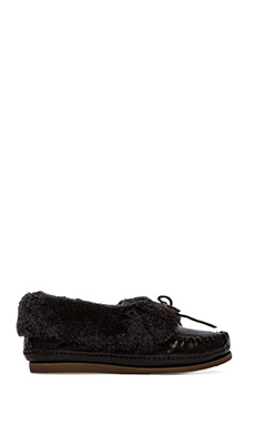 Frye Mason Cuff With Sheep Shearling Slipper in Black