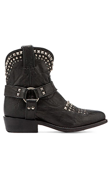 Frye Billy Biker Short Boot in Black