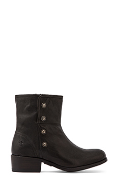 Frye Lynne Military Short Boot in Black