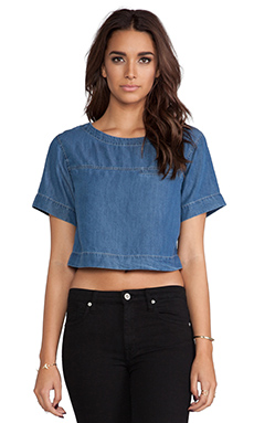Funktional Blue Hour Cropped Top in Denim
