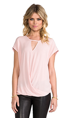 Funktional Timeless Fold Front Top in Pale Pink