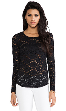 Generation Love Lana Lace Tee in Black