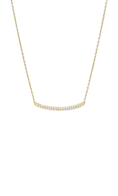 gorjana Taner Pave Bar Necklace in Gold