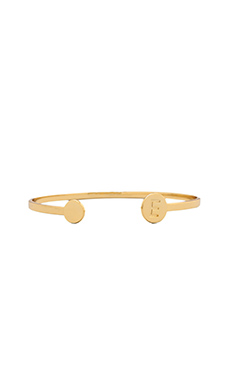 gorjana Alphabet Disc Cuff in 'E'