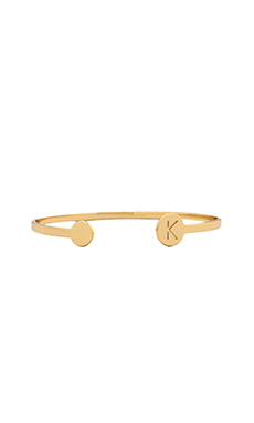 gorjana Alphabet Disc Cuff in