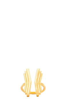 gorjana Downtown Layered Cuff in Gold