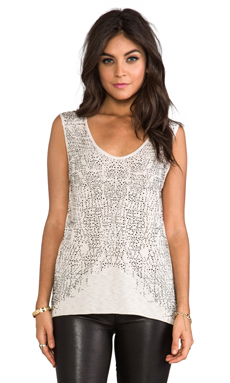 Graham & Spencer Modal Slub Cutoff Tank in Oat