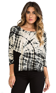 Gypsy 05 Oversize Top in Black & Bone