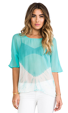 Gypsy 05 Hi-Low Blouse in Aqua