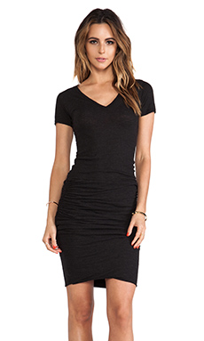 MONROW SHIRRED TEE DRESS