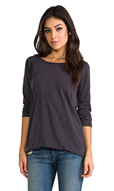 MONROW Open Back Rock Tee in Neptune