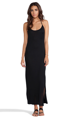 Haute Hippie Racerback Gown in Black