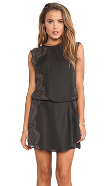 Haute Hippie Lace Dress in Dark Graphite/Dark Graphite Lace