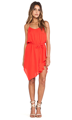 Haute Hippie Racerback Tank Dress in Tomato Red