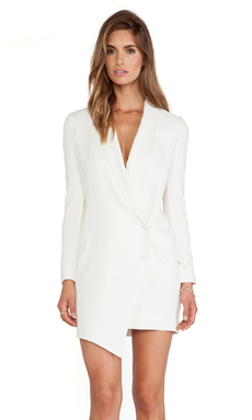 Haute Hippie Tux Dress in Swan