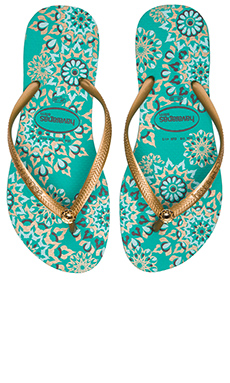 Havaianas Slim Illusion Flip Flop in Mint