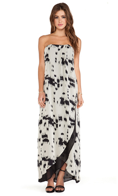 Helena Quinn Karin Maxi Dress in Black & Cream Print