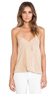 Helena Quinn Draped Tank in Cream
