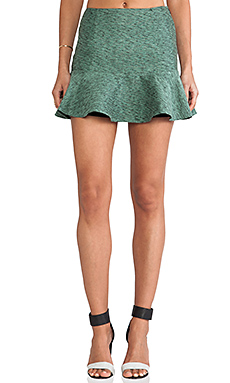 harlyn Peplum Skirt in Mint