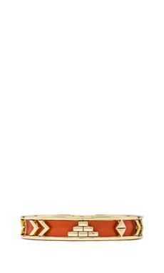 House of Harlow Aztec Bangle in Coral