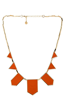 House of Harlow Classic Station Necklace in Coral