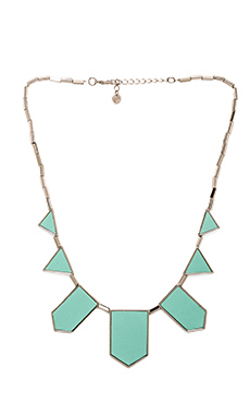 House of Harlow Classic Station Necklace in Robin's Egg