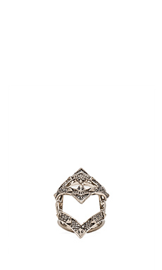 House of Harlow Pave Jaws Finger Ring in Silver
