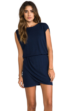 Heather Wrap Mini Dress in Heather Midnight